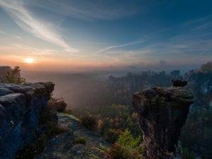 Sonnenaufgang Bastei