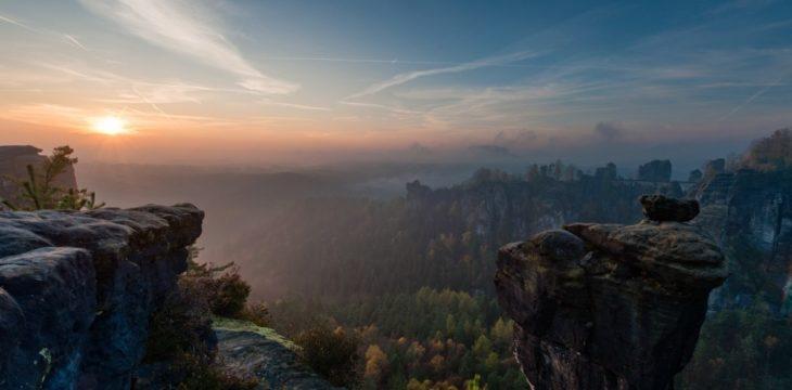 Fototour: Sonnenaufgang im Basteigebiet